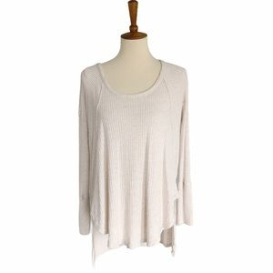 Free People Waffle Knit Top Size Large